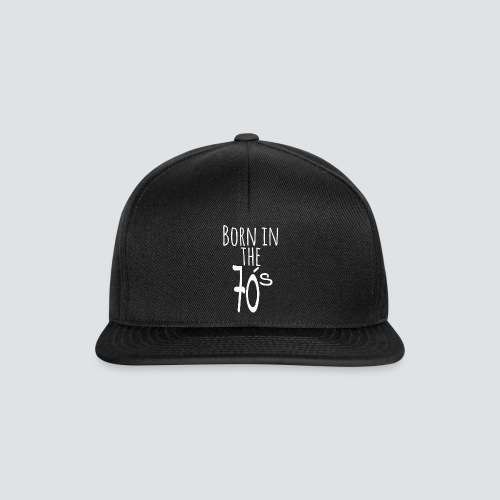 Born in the 70 s weiss - Snapback Cap