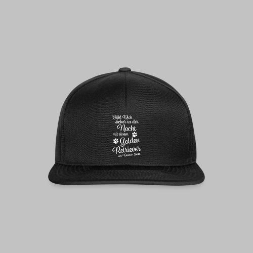 Fühl Dich sicher in der Nacht - Golden Retriever - Snapback Cap