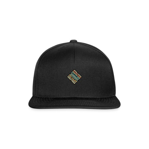 Square Regenbogen - Snapback Cap