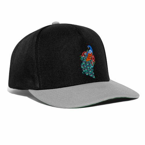 Farverig påfugl - Snapback Cap