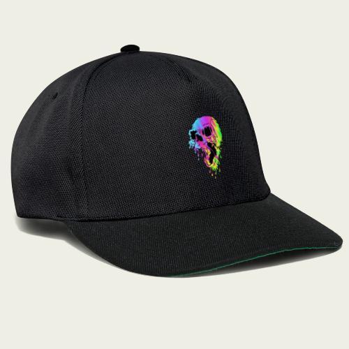 Skull derretido psychedelic - Gorra Snapback