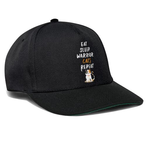 Eat sleep warrior cats repeat - Casquette snapback