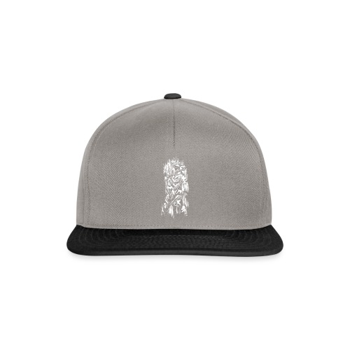 Samurai / White - Abstract Tatoo - Snapback Cap