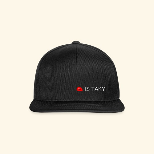 Is Taky White - Snapback Cap