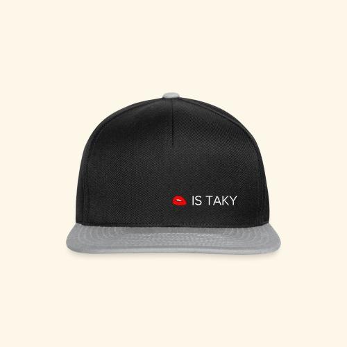 Is Taky White - Snapback Cap