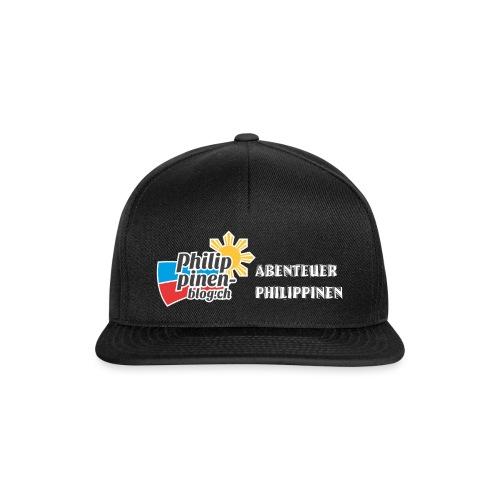 Philippinen-Blog Logo deutsch schwarz/weiss - Snapback Cap