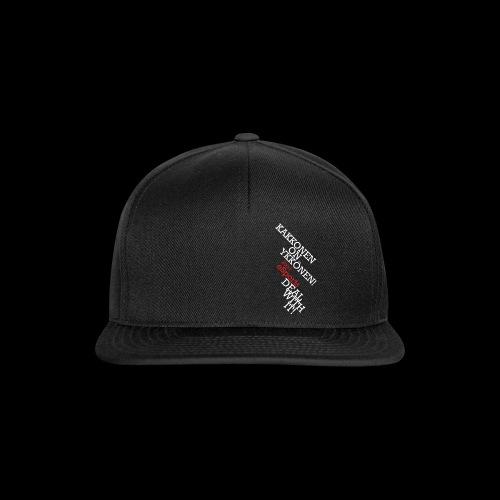 teksti logo musta tausta - Snapback Cap
