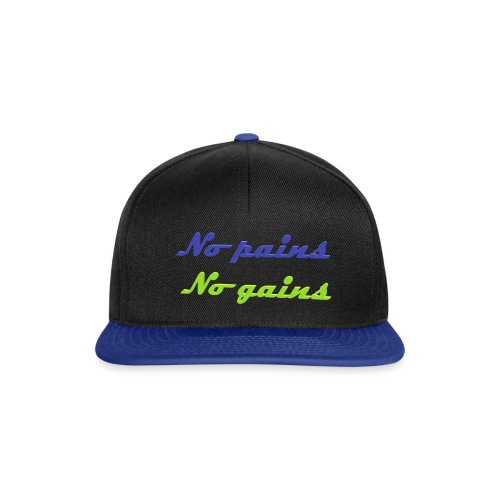 No pains no gains Saying with 3D effect - Snapback Cap