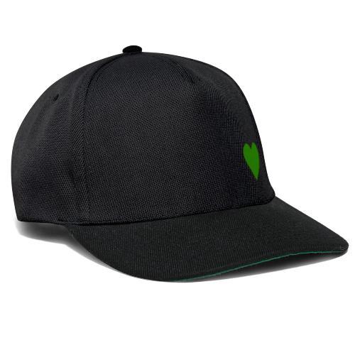 Grünes Herz / Grüne Liebe / Grüner Planet - Snapback Cap