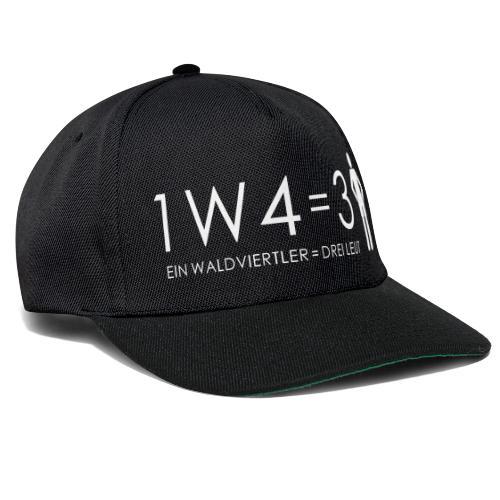 1W4 3L = Ein Waldviertler ist drei Leute - Snapback Cap