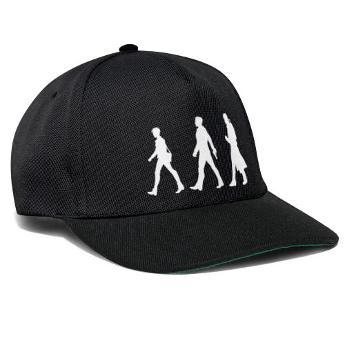 White Design With Title and Characters - Snapback Cap