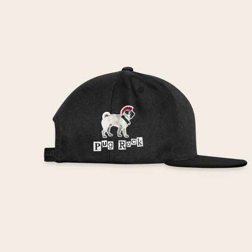 pug rock rot weiss - Snapback Cap
