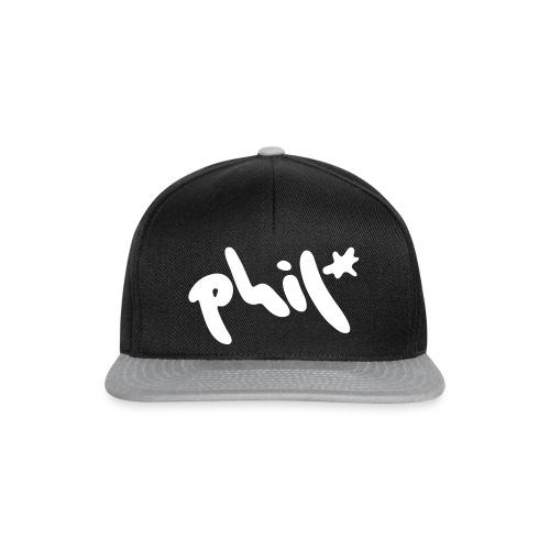 phil splash logo - Snapback Cap