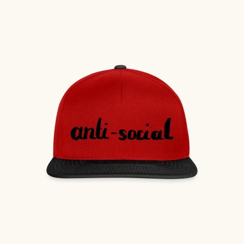 anti-social asocial énonciation drôle comme un cadeau - Casquette snapback