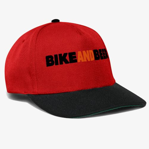 bike and beer banner - Casquette snapback
