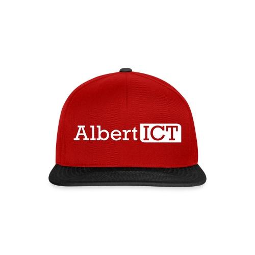 AlbertICT wit logo - Snapback cap