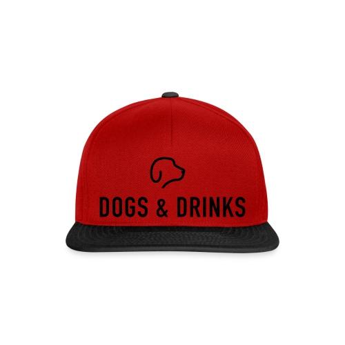 logo dogs and drinks zwart lettertype - Casquette snapback