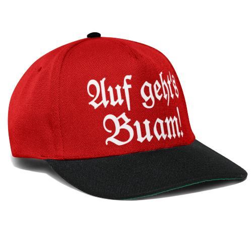 Auf geht's Buam! Bayern Spruch - Snapback Cap