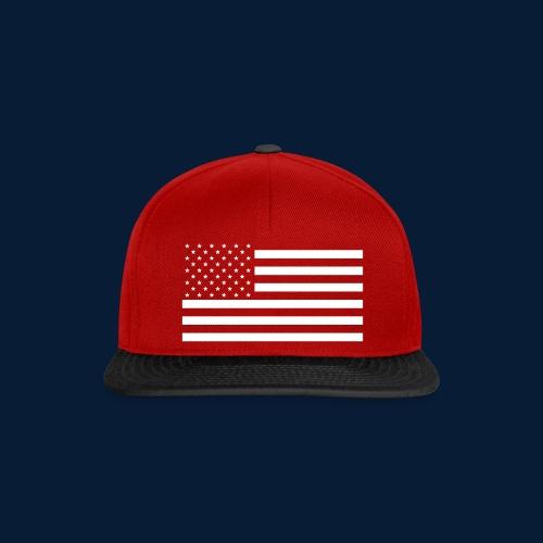 Stars and Stripes White - Snapback Cap