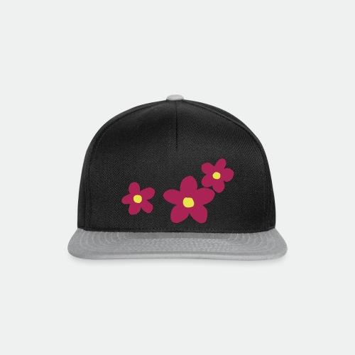 Three Flowers - Snapback Cap