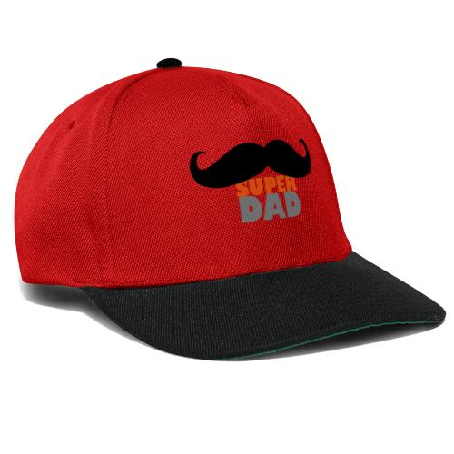 superdad moustache - Snapback Cap