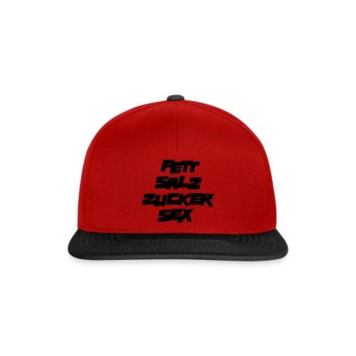 fett_salz_zucker_sex - Snapback Cap