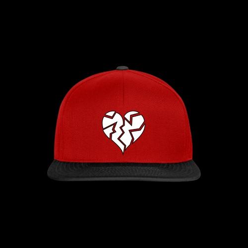 White HeartBroken - Snapback Cap