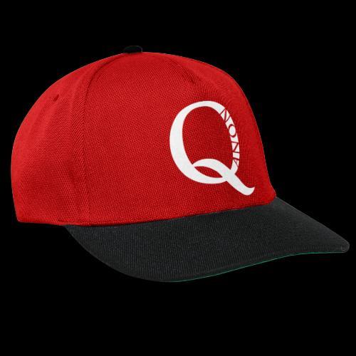 Q Anon Q-Anon Original Logo - Snapback Cap