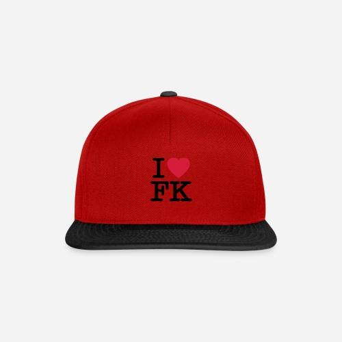 ilovefk logo - Snapback Cap