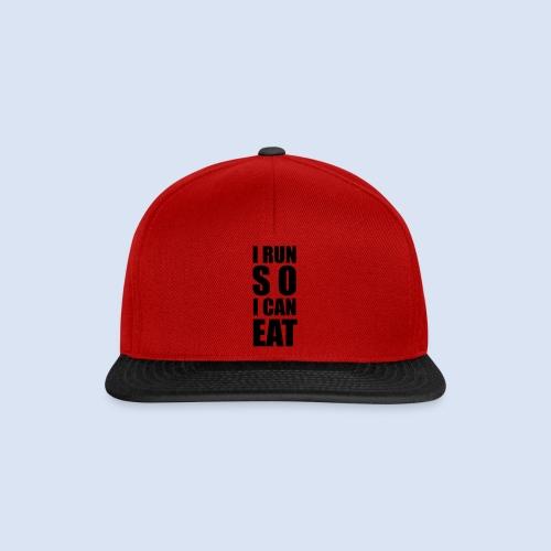 I RUN SO I CAN EAT - Snapback Cap