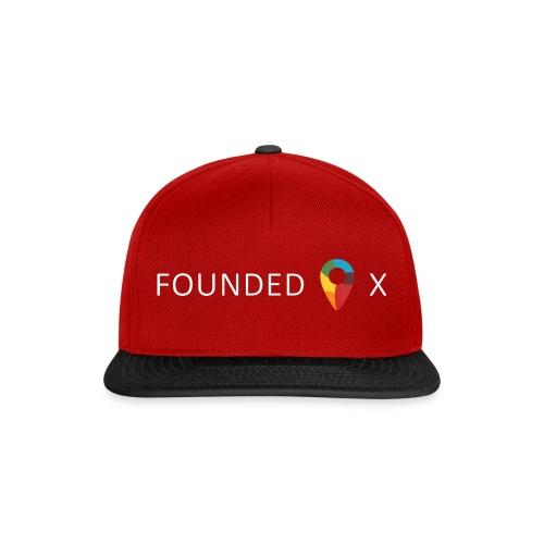 FoundedX logo white png - Snapback Cap