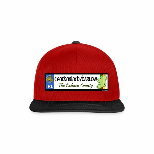 CARLOW, IRELAND: licence plate tag style decal - Snapback Cap