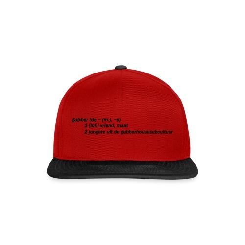gabbers definitie - Snapback cap