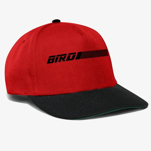 bird text with lines - Snapback Cap