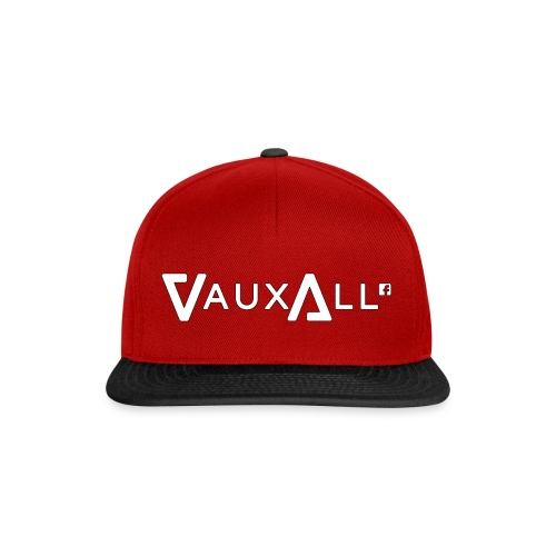 VauxAll Logo | White | Original - Snapback Cap