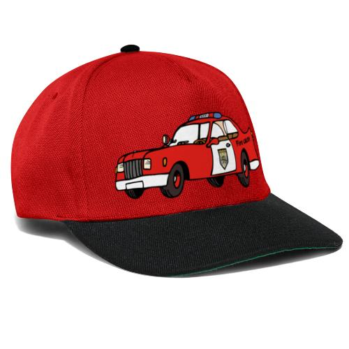 fire chief car - Snapback Cap