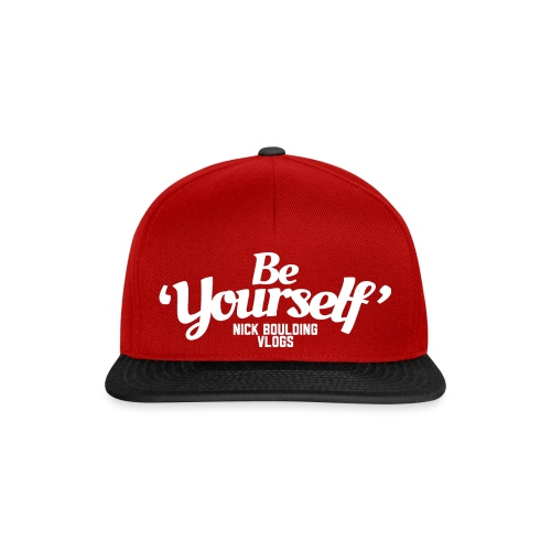Be Yourself Logo White - Snapback Cap