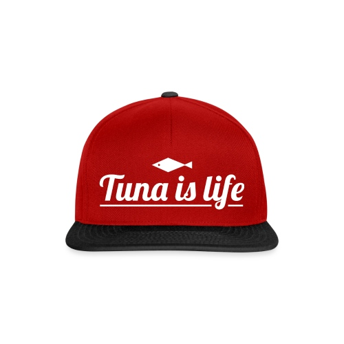 Tuna is Life Hoodie - Black - Snapback Cap