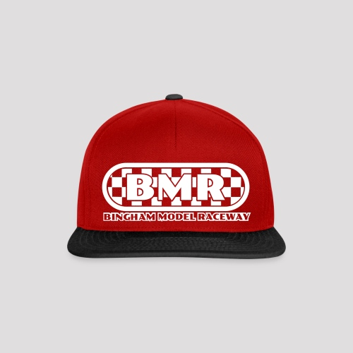 All white BMR logo - Snapback Cap