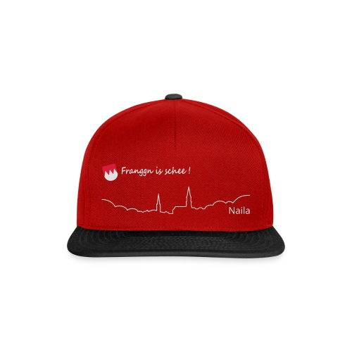 Franggn is schee:Naila weiß+rot - Snapback Cap