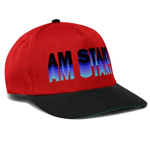 am Start - blau schwarz faded - Snapback Cap