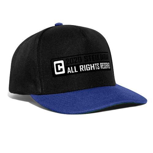 Copyright standaard zwart wit - Snapback cap