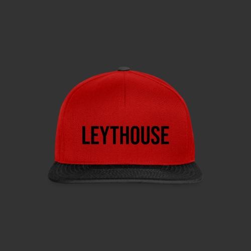 LEYTHOUSE main logo black - Snapback Cap