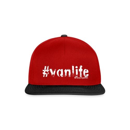VANLIFEWHITEBIG png - Snapback Cap
