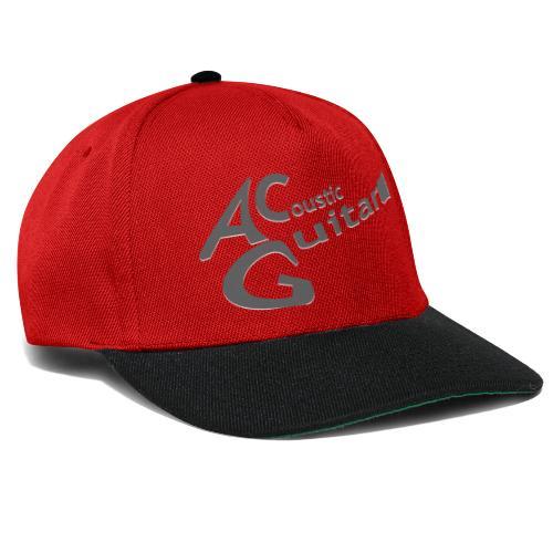 Acoustic Guitar Logo - Gray - Snapback Cap