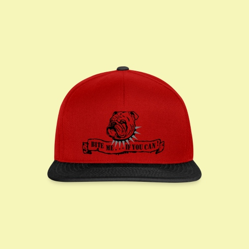 Bulldog - bite me if u can! - Snapback Cap