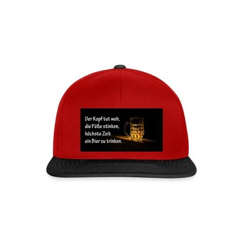 Bier Sprueche - Snapback Cap
