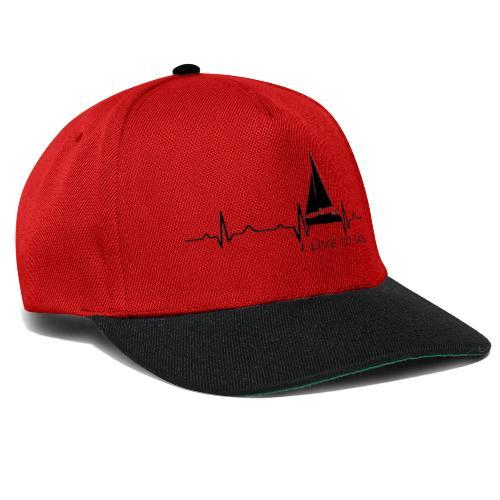sailboat heart military dna - Snapback Cap