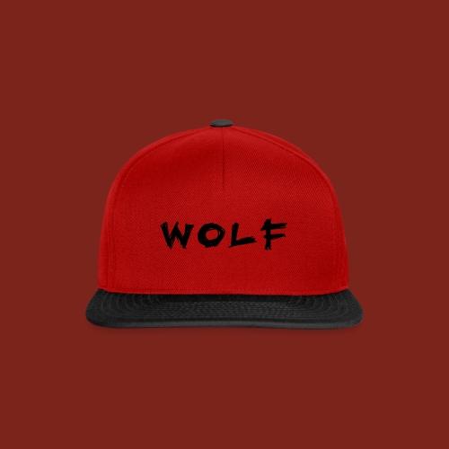Wolf Font png - Snapback cap