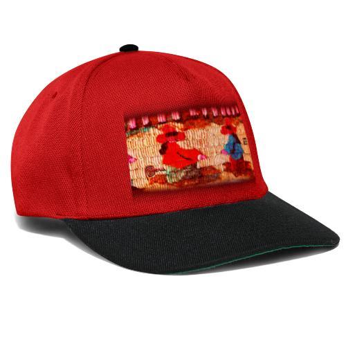 Dos Paisanitas tejiendo telar inka - Snapback Cap